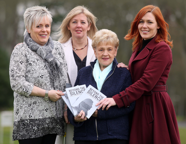 Sharon Austin (left) and Marie Newton (centre front) with the project coordinator Carol Cunningham and editor Julieann Campbell (right)