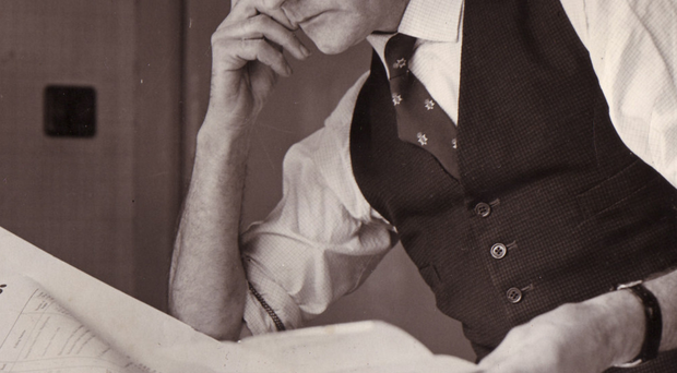James Molyneaux as agent for Sir Knox Cunningham, at work on election plans in October 1964
