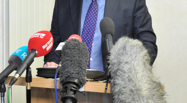 DCI Richard Campbell speaks to the media yesterday