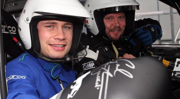 Boxing champion Carl Frampton and his wife Christine were special guests at the Circuit of Ireland Rally's test day