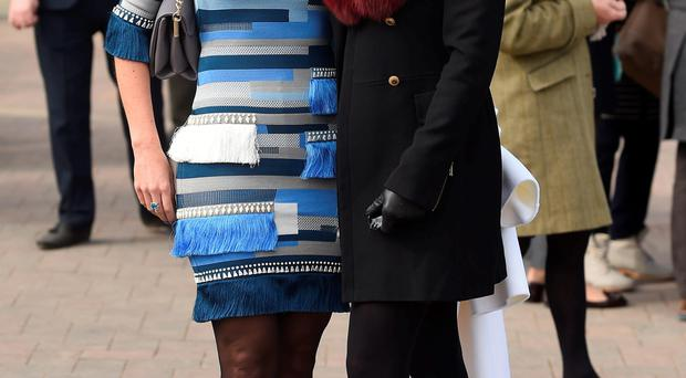 AP McCoy's wife Chanelle and friend