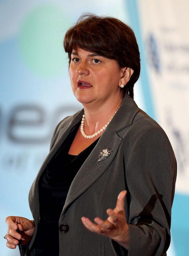 Saddened: Arlene Foster