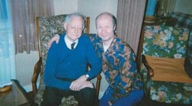 The late Lord Molyneaux with Christopher Luke