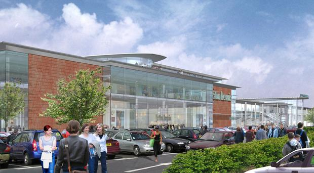 Impression of how John Lewis store could look at Sprucefield