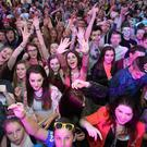 Fans at the MTV Crashes concert at Ebrington Square, Londonderry, in 2014