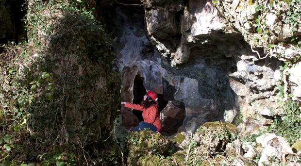 Alison and Gwendoline cave in Clare where the bone was found