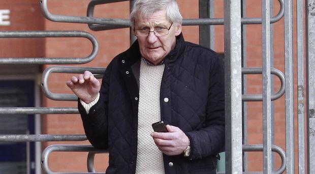 Bryce Currie leaves Coleraine Magistrates Court yesterday