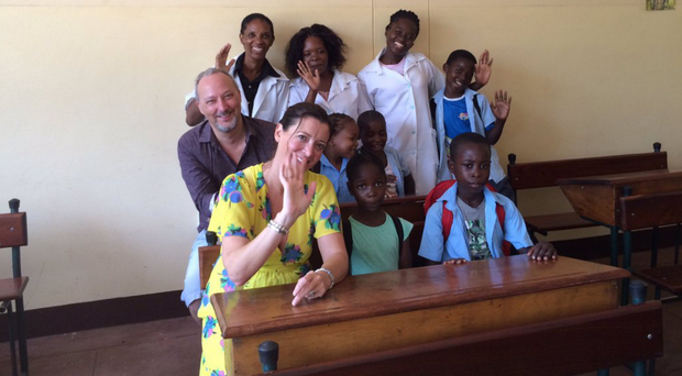 Peter Corry at the Casa Da Alegria School and Orphanage in Maputo