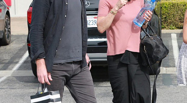 Johnny McDaid with his ex-fiance Courteney Cox in Malibu, California, on Easter Sunday