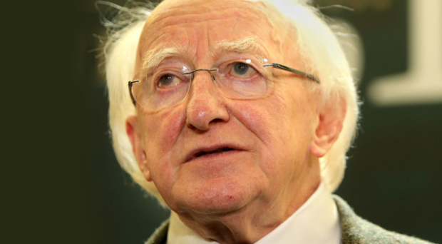 Michael D Higgins at an Easter Rising event in Dublin earlier this week