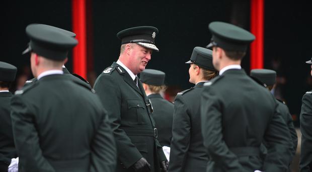 Chief Constable George Hamilton attends the 100th graduation ceremony with 47 new police officers joining the service