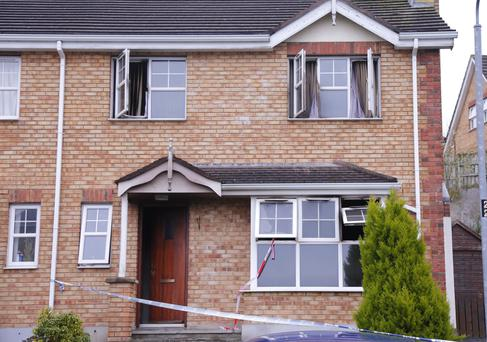 Daughter Mary McCabe paid tribute to her father Brian, who died in a blaze at his Downpatrick home (pictured)