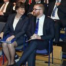 Mrs Foster with party colleague Simon Hamilton