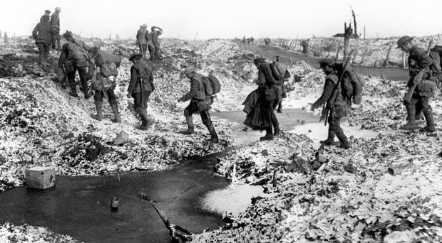 British soldiers pictured at the Battle of the Somme