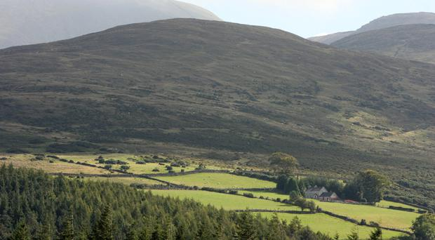 Rescuers and paramedics were involved in the operation in the Mourne Mountains
