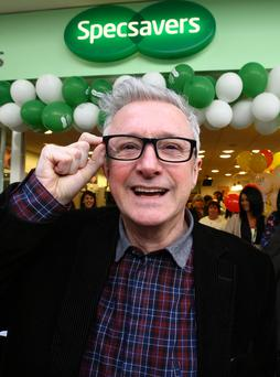 Louis Walsh at the Specsavers Newry store