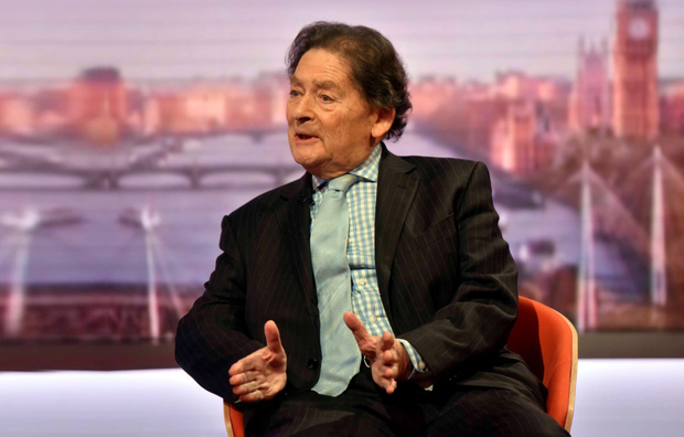 Lord Lawson speaking on the BBC's Andrew Marr Show yesterday