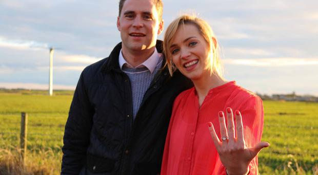 Barry Mullen's fiancee Hannah Starr proudly shows off her engagement ring