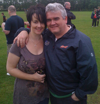 The DUP's Pam Cameron with her husband Michael