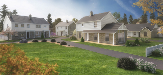 Artist's impression of how the houses might look