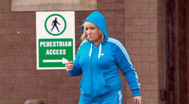 Warning: Rosaleen Bradley outside court yesterday