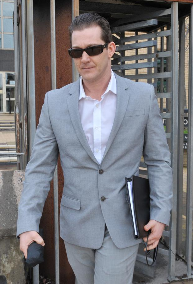 Jeremiah Mathis Thede outside court yesterday