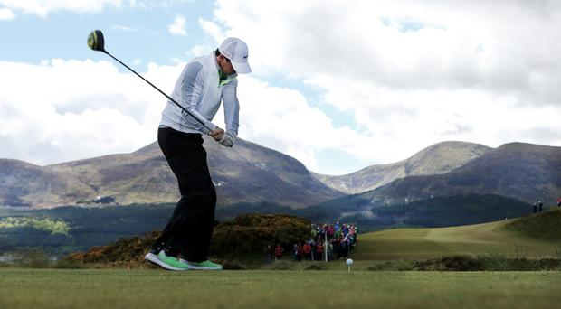 Rory McIlroy at the Irish Open at Royal County Down