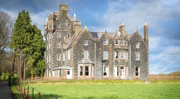Impressive baronial-style Craigdun castle near Cullybackey Co Antrim