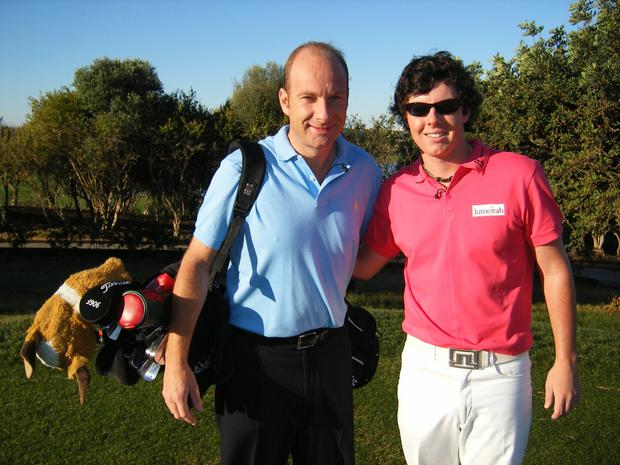 Stephen Watson and Rory McIlroy in Portugal