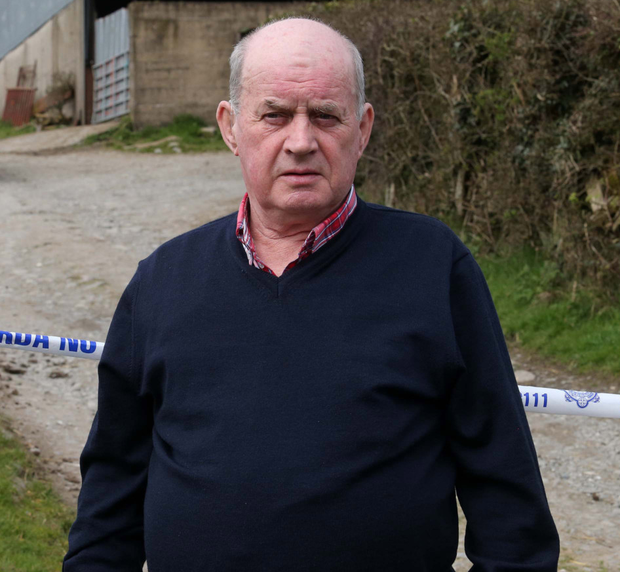 Paul Quinn's father Stephen at the scene of the search yesterday