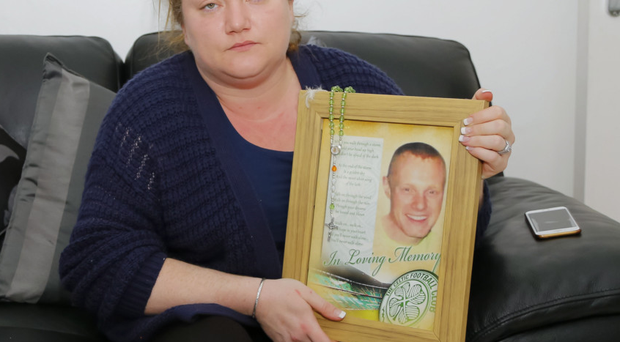 Briege McGarry with a picture of her brother Wayne