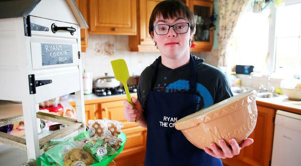 Ryan Bogues turning out tasty treats in the family kitchen
