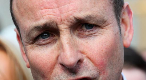 Micheal Martin has hit out at Gerry Adams