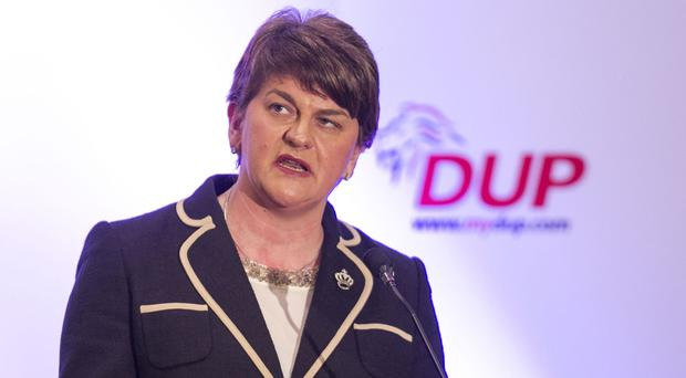 Arlene Foster stressed the need for information in the wake of the murder of father of four Michael McGibbon