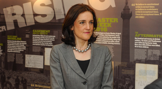 Talks: Theresa Villiers at the 1916 exhibition in City Hall