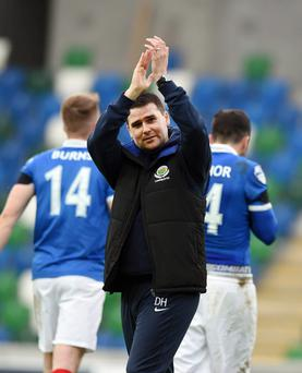 Up for the Cup: Linfield boss David Healy