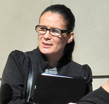 Angeline Mitchell outside Laganside Courts yesterday