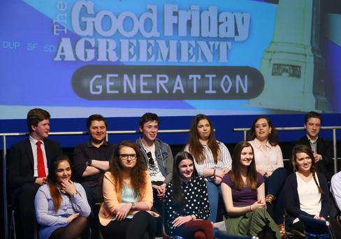 The audience at BBC NI's Good Friday generation programme