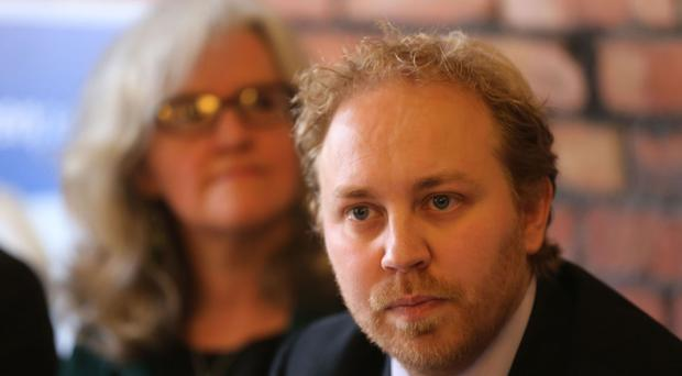 Green Party leader Steven Agnew outlined the manifesto at an event in central Belfast