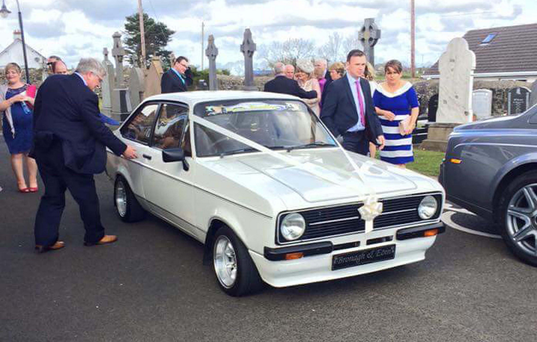Ryan Bradley's MK2 Ford Escort brought his sister Bronagh to her wedding