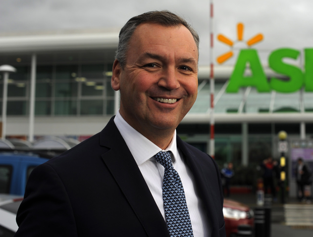 Welcome boost: Asda's Andy Clarke