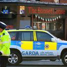 Garda outside The Sunset House bar in Dublin