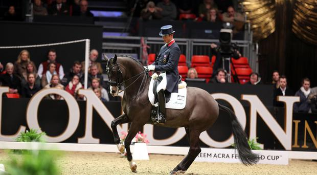 Great Britain's Carl Hester is hoping to buy his mount Uthopia