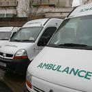 The paramedics and three residents were rushed to hospital