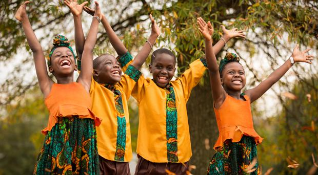 The African Children's Choir in full voice