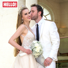 Zoe Salmon and husband William Corrie on their big day