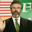 Gerry Adams speaks to supporters at an event in Washington DC in 2005. (Photo: Alex Wong/Getty Images)