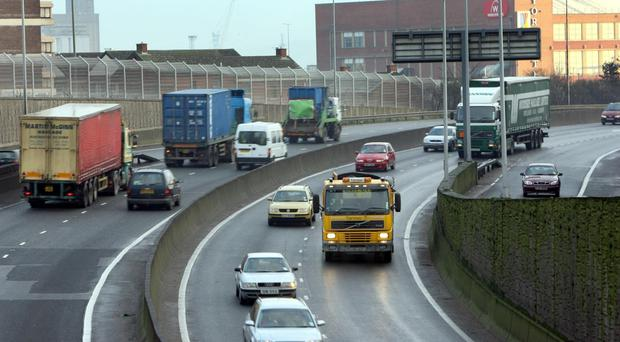The Westlink in Belfast was hit by a police incident