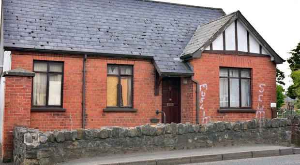 The racist graffiti was spray-painted on the property at Oaks Road in the town