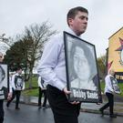 The rally to commemorate the 35th anniversary of the 1981 hunger strikes in Londonderry